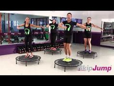 SKIP JUMP MIX 9 - by Tatiana Trévia In Portuguese - but still has great warm up and fun music. Trampolines, Zumba, Po Trainer, Mini Trampoline Workout, Cardio Challenge, Easy At Home Workouts, Fitness Video, Excercise, Rebounding Exercise