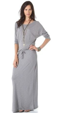 Lanston Boyfriend Maxi Dress - this looks SO comfortable! Trendy Dresses, Cute Dresses, Casual Dresses, Summer Dresses, Modest Outfits, Skirt Outfits, Summer Outfits, Modest Fashion, Fashion Dresses