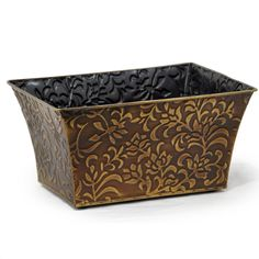 Wholesale Decorative Boxes And Baskets Tall Thin Etched Rectangle Vases And Containers  Wholesale