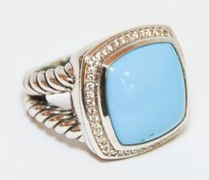 turquoise & gold David Yurman...right-hand ring?!