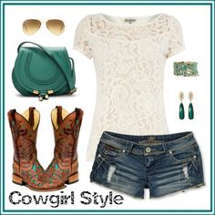 """Cowgirl Style.."" by maria-garza on Polyvore"
