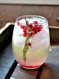 Pomegranate and Rosemary White Sangria Recipe
