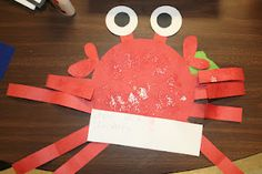 Oceans of Fun Centers, Baby News, and a Mommy Pic Crab Crafts, Sailing Theme, Ocean Unit, Thematic Units, Letter A Crafts, Ocean Themes, Preschool Art, Summer School, Summer Crafts
