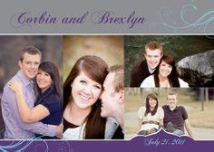 Wedding Invitation: Corbin and Brexlyn SIDE 1