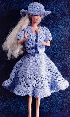 Robe de barbie au crochet - Le blog de Hanim
