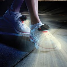The Path Illuminating LED Shoe Lights will Keep you Safe and Visible after dark! http://www.wickedgadgetry.com/2016/05/02/path-illuminating-led-shoe-lights/ #led-shoe-lights #led-lights #led #shoe-lights #jogging #jogging-lights #safety-lights #biking #biking-lights