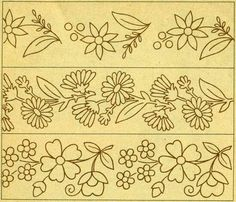 No hay texto alternativo automático disponible. Mexican Embroidery, Hand Embroidery Patterns, Vintage Embroidery, Beading Patterns, Embroidery Stitches, Punch Needle Patterns, Craft Patterns, Doodle Designs, Stencil Designs
