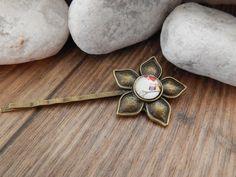 Haarklammern - Blumenhaarspange - Eulen - ein Designerstück von Trullas-Reich bei DaWanda