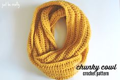 Hello there!  Today I'll be sharing with you a super simple pattern to help get through the winter, a chunky crochet cowl!  Whip a few up in any of your favorite bright colors to help cheer u…