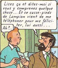 Séraphin Lampion casse-pieds • Joyln  Wagg and Captain Haddock • Tintin, Herge j'aime