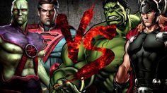 Супермен и Марсианский Охотник VS Халк и Тор [Bifrost Fight Club 3.0]
