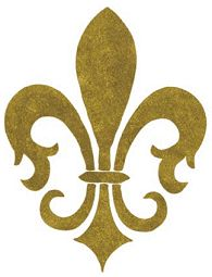 """The """"fleur de lis"""" is the symbol for Lille (where I lived in France); idea to stencil them in the study room"""