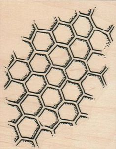 HoneyComb Pattern 3 3/4 x 2 3/4 (Viva Las Vegas Stamps)