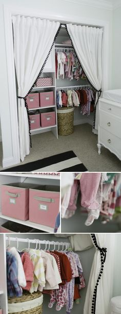 I know that this shows baby clothes, but this could so work for other clothes! #organization #cubes