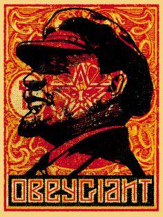 Lenin Stamp Poster 2000 / Shepard Fairey