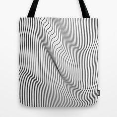 Minimal Curves Tote Bag by Leandro Pita - $22.00