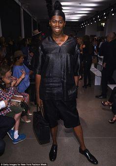 Suave: America's Next Top Model judge Miss J. Alexander looked dapper in his…