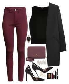 """""""SIMPLE"""" by silviarussi ❤ liked on Polyvore featuring Topshop, LC Lauren Conrad, Kate Spade, H&M, Non, Gianvito Rossi, Universal Lighting and Decor, Marc Jacobs, NYX and MAC Cosmetics"""