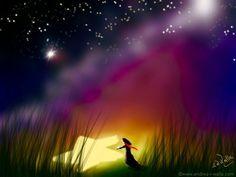 Manchmal fällt einfach ein Stern vom Himmel, weil er die Welt erhellen will.  Make Myday Die Abenteuer der kleinen Fee Als Kalender und auf Wunsch jedes Motiv als FineArtPrint erhältlich. Mehr HerzLichtprodukte findest Du im Shop. http://www.spielweltv3galerie.com/shop/