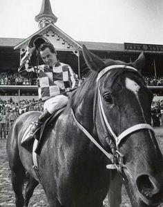 Secretariat at his Kentucky Derby  1973