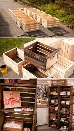 Apple crates display case - Fashion, crafts and more
