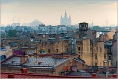 The roofs of Saint Petersburg