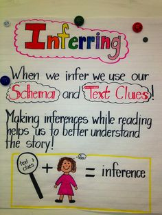 Inferring helps to understand the story.