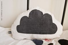 Painettuja poutapilviä - cloud pillow