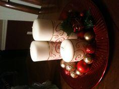 Easy Christmas Center Piece