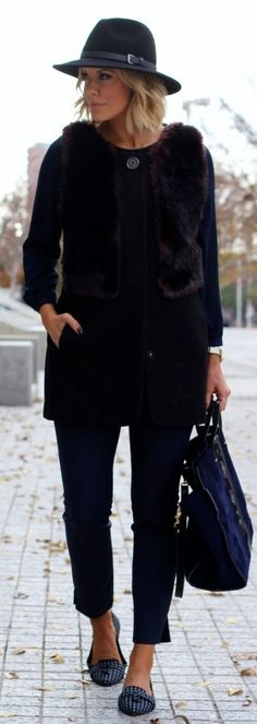 Burgundy Faux Fur Vest by What Courtney Wore
