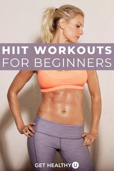 Research shows that shorter, high-intensity workouts can do more for your health than longer, more leisurely workouts. Check out our beginner's guide to HIIT to learn everything there is to know about high-intensity interval training. Then try our 10-minute HIIT workouts! Hiit Workouts For Beginners, Beginner Workout At Home, Step Workout, Easy Workouts, At Home Workouts, Cardio Workouts, Workout Plans, Workout Schedule