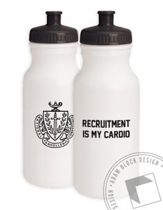 National Panhellenic Conference - Recruitment is My Cardio  Water Bottle Package  by ABD BlockBuy! Just $8-$9 each plus shipping until Aug 10 | Adam Block Design | Custom Greek Apparel & Sorority Clothes | www.adamblockdesign.com