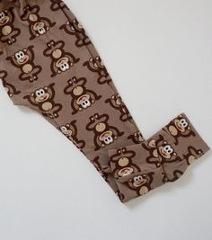 Brown Marvin the Cheeky Monkey Baby & Toddler Leggings Toddler Leggings, Baby Leggings, Kids Z, Baby Kids, Baby Swag, Baby Store, Hand Designs, Baby Design, Handmade Baby
