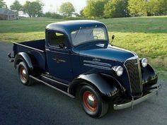 1937 Chevrolet Pickup - Rhapsody In Blue With Black Fenders - Classic Trucks Magazine - Hot Rod Chevrolet Trucks, Gmc Trucks, Cool Trucks, Cool Cars, Lifted Trucks, Farm Trucks, Toyota Trucks, 1957 Chevrolet, Lifted Ford