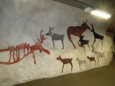 """Cave"" paintings at kaisaniemi Metro Station, Helsinki, Finland"