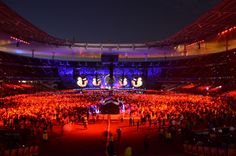 The view from the back…  – Coldplay's Paris show