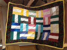 Best Wishes quilts are assembled to leave spaces for folks to leave their best wishes, in the white spaces.