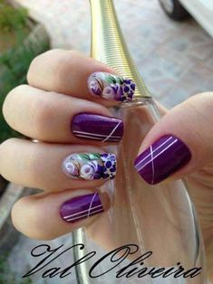 Unhas decoradas com rosas - 29 beauty tips, hair, nails & more идеи для Pretty Nail Art, Beautiful Nail Designs, Beautiful Nail Art, Crazy Nail Art, Crazy Nails, Fabulous Nails, Perfect Nails, Nail Manicure, Toe Nails