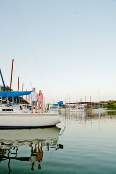 Photo Fridays   A Fun Boat Engagement