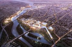 Washington 2024 Olympic Bid Master Plan | Architect Magazine | Gensler, Washington, DC, Planning, Sports, 2015 AIA DC Design Awards, AIA - Local Awards 2015