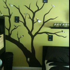 Hand painted wall tree. :)