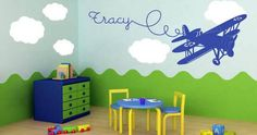 A lovely airplane for your kids room Your children will love this old school airplane.  Visit this link for more designs: https://limelight-vinyl.myshopify.com/