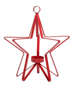 Love this Red Starlite Hanging Tealight Holder by tag on #zulily! #zulilyfinds
