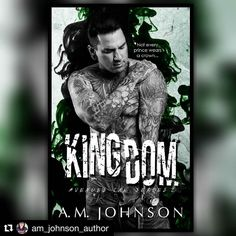 Dear beautiful @am_johnson_author congrats on your gorgeous cover reveal! Cannot wait to read another gem of yours!!! Xxx #Repost @am_johnson_author with @repostapp  I'm so excited to finally share the #Kingdom cover!  @tattooed_elvis is seriously the perfect Liam and @thereadingruth killed this cover... KILLED IT! Can I be in love with a cover or is that weird?  Book: KINGDOM  Series: Avenues Ink Series #2 Author: AM Johnson  Cover Design by: Mary Ruth  Featuring cover model Steve Gehrke as…