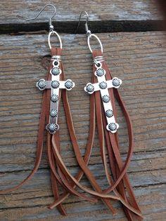 Western silver tone pearl and saddle tan deerskin by WBrandDesigns