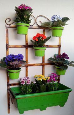 Floreira Vertical De Aço- Jardim Vertical, Suporte Para Vaso - R$ 197,40 no MercadoLivre