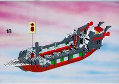 Thousands of complete step-by-step printable older LEGO® instructions for free. Here you can find step by step instructions for most LEGO® sets. Black Mode, Lego Pirate Ship, Lego Group, Lego Instructions, Lego Sets, Legos, Pirates, Birth, Kids
