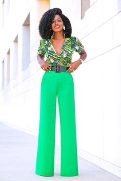 Print Button Down Shirt + High Waist Wide Leg Pants (Style Pantry) Work Fashion, Fashion Pants, Fashion Outfits, Daily Fashion, Classy Outfits, Chic Outfits, Black Women Fashion, Womens Fashion, Style Pantry