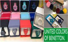 Ρολόγια και μπρελόκ Benetton σε ποικιλία χρωμάτων και σχεδίων