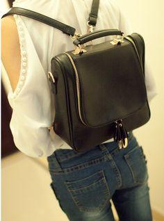 Retro Women back pack Bag Kpop satchel Bag Korean shoulder bag Vintage Tote bag clutch bag black orange bag business bag travelling bag on Etsy, £15.67